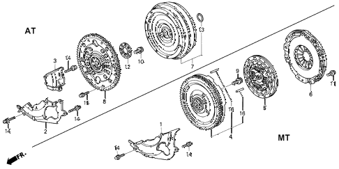 1992 VIGOR GS 4 DOOR 5MT CLUTCH - TORQUE CONVERTER diagram