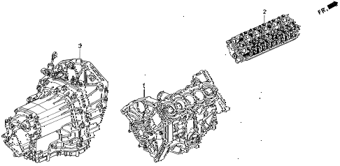 1993 VIGOR GS 4 DOOR 5MT ENGINE ASSY. - TRANSMISSION ASSY. diagram