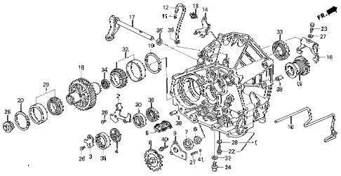 1994 VIGOR GS 4 DOOR 5MT MT CLUTCH HOUSING diagram