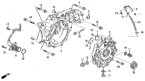 1992 VIGOR GS 4 DOOR 5MT MT DIFFERENTIAL CARRIER diagram