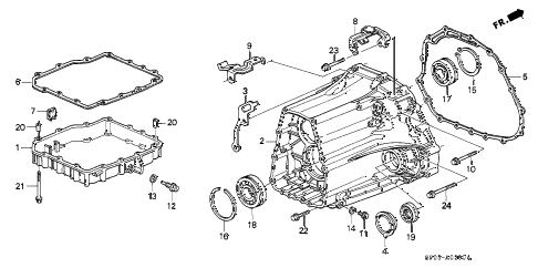 1992 LEGEND L 4 DOOR 4AT AT TRANSMISSION HOUSING diagram