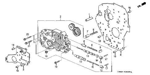 1994 LEGEND LS 4 DOOR 4AT AT OIL PUMP BODY diagram