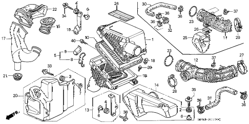 1991 LEGEND L 4 DOOR 4AT AIR CLEANER diagram