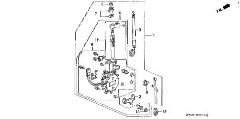 1994 LEGEND LS 4 DOOR 4AT RADIO ANTENNA diagram