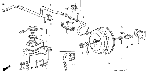 1993 LEGEND STD 4 DOOR 5MT MASTER CYLINDER diagram