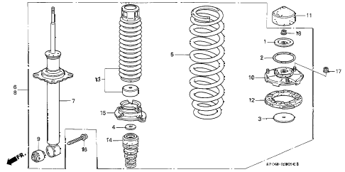 1992 LEGEND STD 4 DOOR 5MT REAR SHOCK ABSORBER diagram