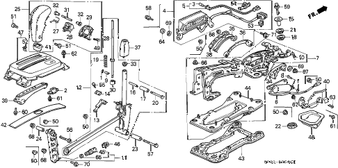 1992 LEGEND L 4 DOOR 4AT SELECT LEVER (EXC. GS) diagram