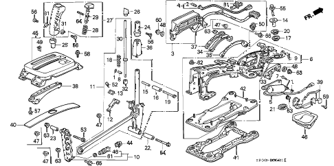 1994 LEGEND GS 4 DOOR 4AT SELECT LEVER (GS) diagram
