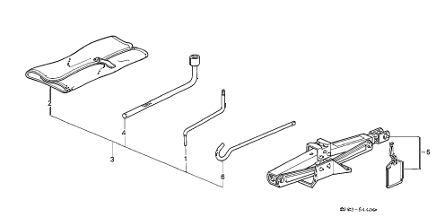 1992 LEGEND L*(MOQUETTE) 4 DOOR 5MT TOOL - JACK diagram