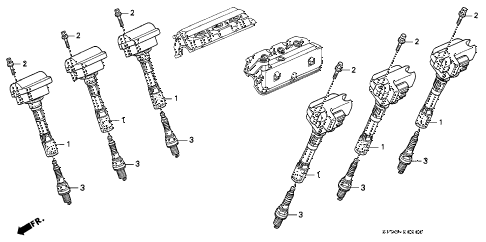 1993 LEGEND L 4 DOOR 5MT IGNITION COIL - SPARK PLUG diagram