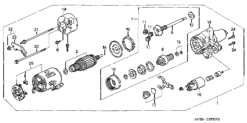 1993 LEGEND STD 4 DOOR 5MT STARTER MOTOR diagram