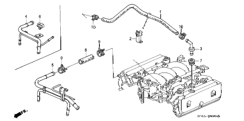 1994 LEGEND GS 4 DOOR 4AT BREATHER TUBE diagram