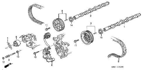 1994 LEGEND L 4 DOOR 4AT CAMSHAFT - TIMING BELT diagram