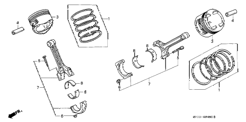 1995 LEGEND GS 4 DOOR 6MT PISTON - CONNECTING ROD diagram