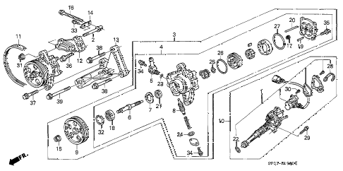1994 LEGEND L 4 DOOR 5MT P.S. PUMP diagram