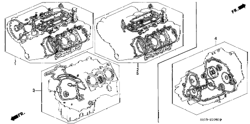 1993 LEGEND LS 4 DOOR 4AT GASKET KIT diagram