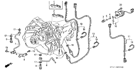1991 LEGEND L*(MOQUETTE) 4 DOOR 5MT MT OIL PUMP PIPE - SWITCH diagram