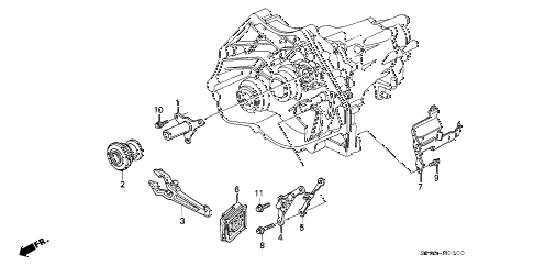 1992 LEGEND LS 4 DOOR 5MT MT CLUTCH RELEASE diagram