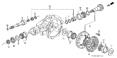 1993 LEGEND LS 4 DOOR 5MT MT DIFFERENTIAL GEAR diagram