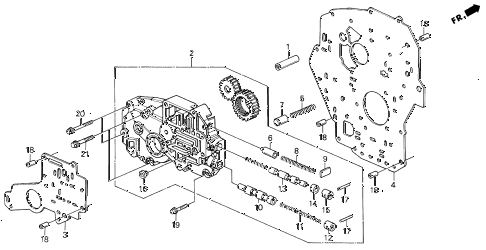 1991 LEGEND LS 2 DOOR 4AT AT OIL PUMP BODY diagram