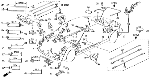 1991 LEGEND L*MOQUETTE 2 DOOR 5MT WIRE HARNESS diagram