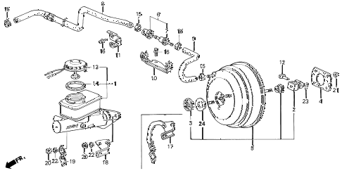 1991 LEGEND L 2 DOOR 5MT BRAKE MASTER CYLINDER diagram