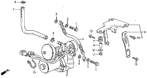 1995 LEGEND L 2 DOOR 6MT A.L.B. PUMP diagram