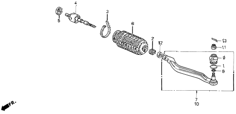 1995 LEGEND LS 2 DOOR 4AT TIE ROD diagram