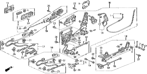 1993 LEGEND LS 2 DOOR 4AT FRONT SEAT COMPONENTS (LS  - RIGHT SIDE) diagram