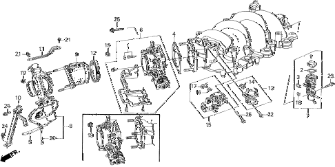 1993 LEGEND LS 2 DOOR 4AT THROTTLE BODY diagram