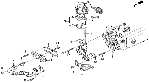 1993 LEGEND L 2 DOOR 6MT EGR VALVE diagram