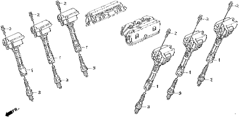1995 LEGEND L 2 DOOR 4AT IGNITION COIL - SPARK PLUG diagram