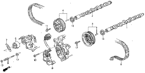 1993 LEGEND L 2 DOOR 4AT CAMSHAFT - TIMING BELT diagram