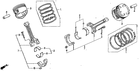 1993 LEGEND LS 2 DOOR 4AT PISTON - CONNECTING ROD diagram
