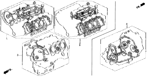 1995 LEGEND LS 2 DOOR 4AT GASKET KIT diagram