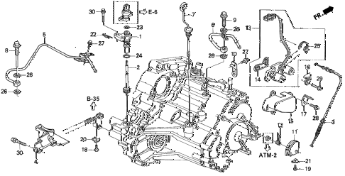 1995 INTEGRA RS 3 DOOR 4AT AT SPEEDOMETER GEAR diagram
