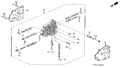 1995 INTEGRA RS 3 DOOR 4AT AT SECONDARY BODY (1) diagram