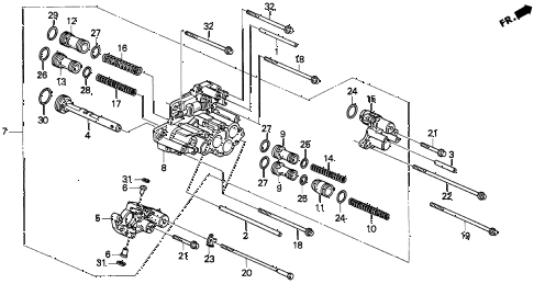 1995 INTEGRA LS 3 DOOR 4AT AT SERVO BODY (1) diagram