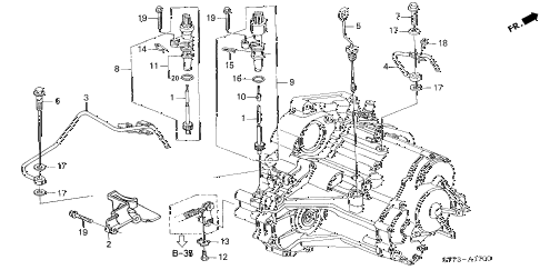 2000 INTEGRA LS 3 DOOR 4AT AT ATF PIPE - SPEED SENSOR diagram
