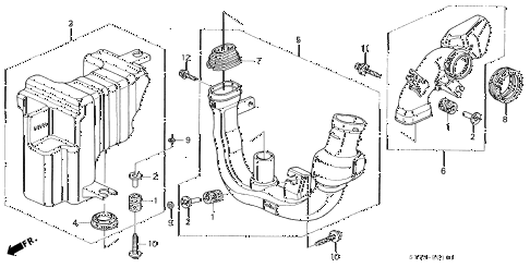 1994 INTEGRA LS 3 DOOR 4AT RESONATOR CHAMBER (1) diagram