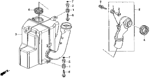 1996 INTEGRA LS 3 DOOR 4AT RESONATOR CHAMBER (2) diagram