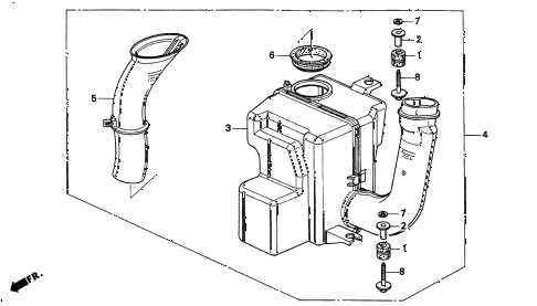 2000 INTEGRA TYPE-R 3 DOOR 5MT RESONATOR CHAMBER (3) diagram