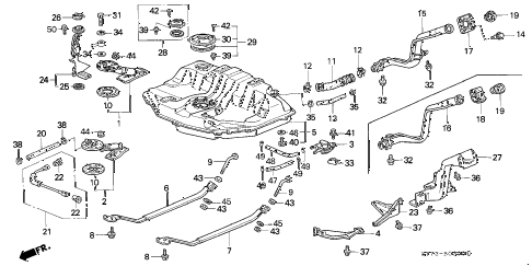 1995 INTEGRA RS 3 DOOR 4AT FUEL TANK (1) diagram
