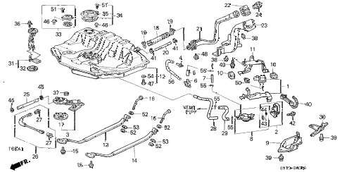 1998 INTEGRA TYPE-R 3 DOOR 5MT FUEL TANK (2) diagram