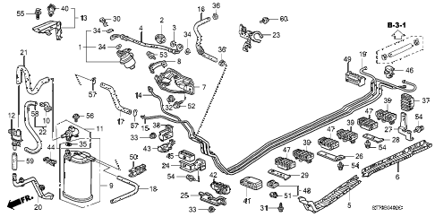 1998 INTEGRA RS 3 DOOR 4AT FUEL PIPE (3) diagram