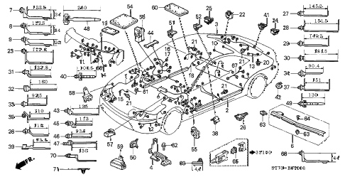 1997 INTEGRA GS-R 3 DOOR 5MT WIRE HARNESS diagram