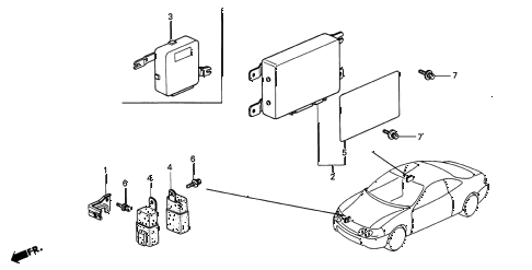 1995 INTEGRA GS-R 3 DOOR 5MT ABS UNIT diagram