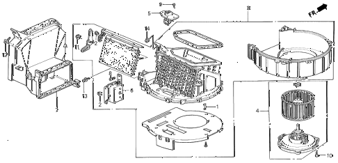 1999 INTEGRA LS 3 DOOR 5MT HEATER BLOWER (1) diagram