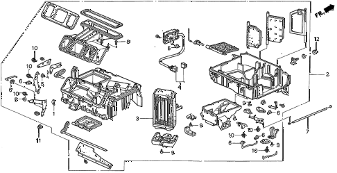 1996 INTEGRA LS 3 DOOR 5MT HEATER UNIT diagram