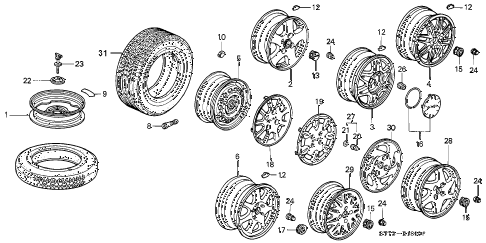 1997 INTEGRA LS 3 DOOR 5MT WHEEL diagram